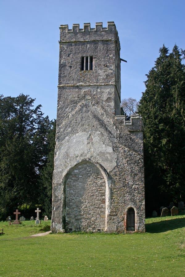 De toren van de kerk, Dartington stock afbeelding
