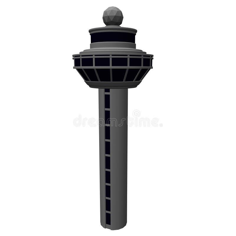 De toren van de luchthaven royalty-vrije illustratie
