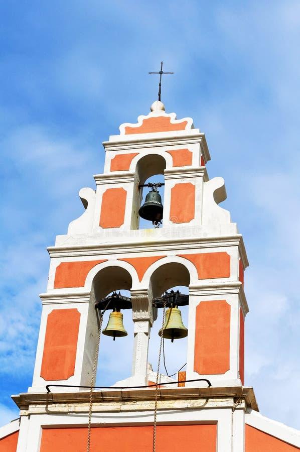 De toren van de orthodoxe kerk van Analipsi royalty-vrije stock afbeelding