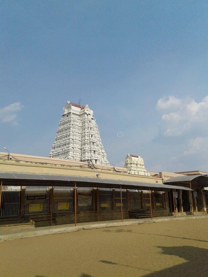 De toren van de Sri rangam tempel stock afbeelding