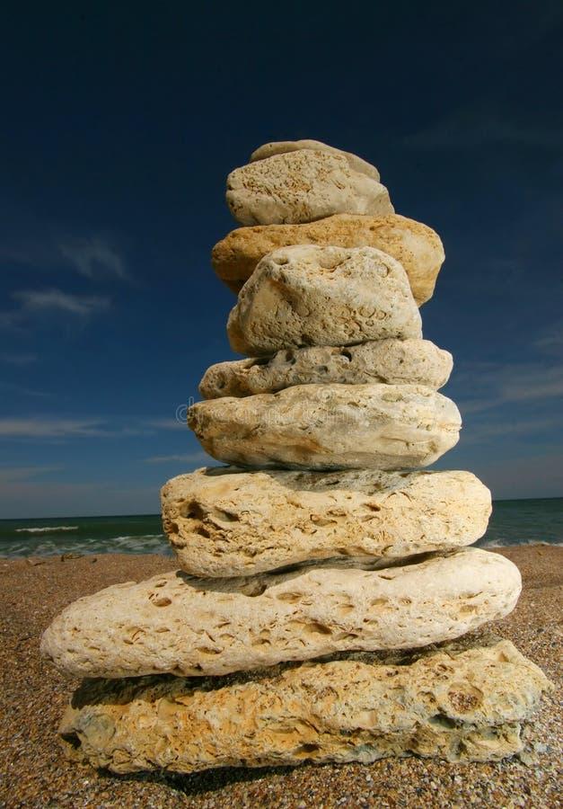 De toren van de steen stock foto's