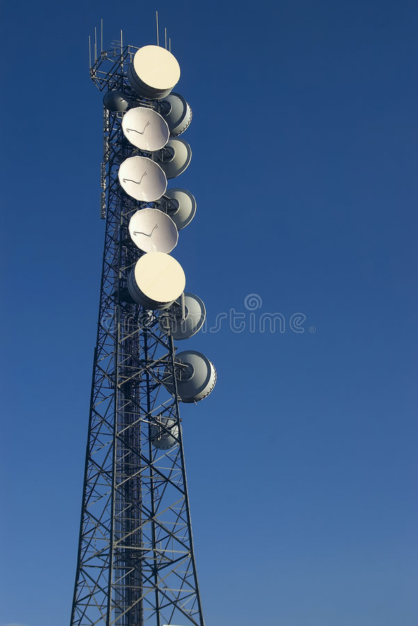 De toren van de telefoon royalty-vrije stock fotografie