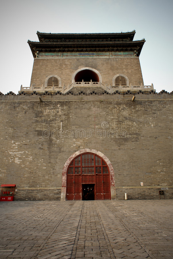 De Toren van de trommel, Peking stock afbeelding