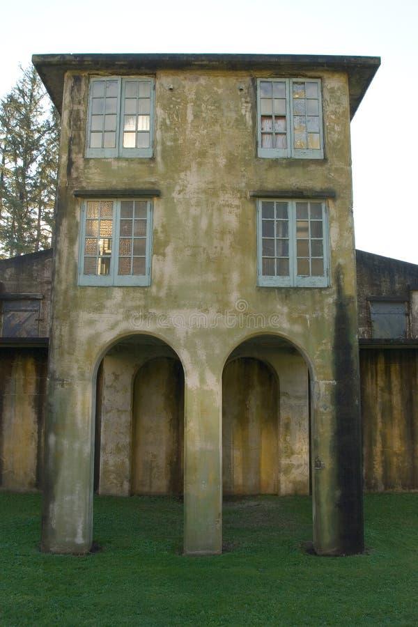 De Toren van de wacht, Fort Colombia stock fotografie