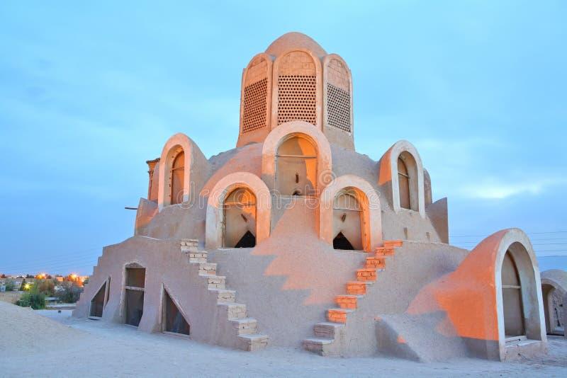De Toren van de wind - Borujerdi Huis, Kashan, Iran stock afbeeldingen