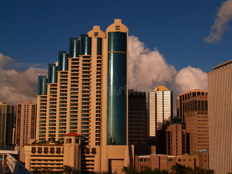 De Toren van de wolk stock foto