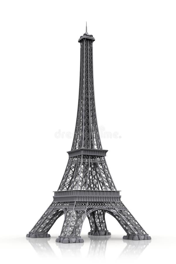 De toren van Eiffel in 3D vector illustratie