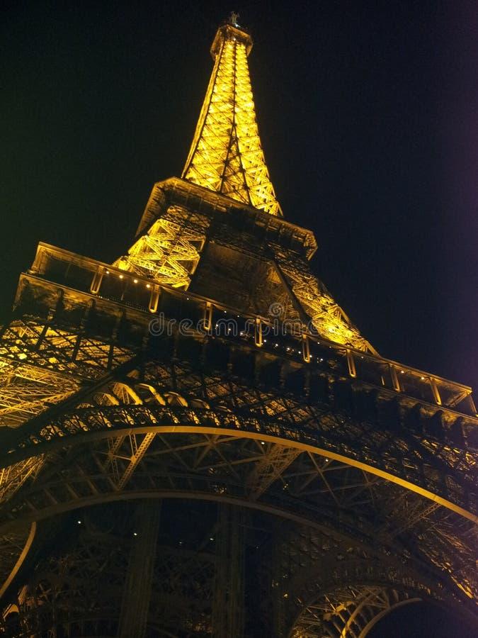 De Toren van Eiffel bij nacht royalty-vrije stock foto's
