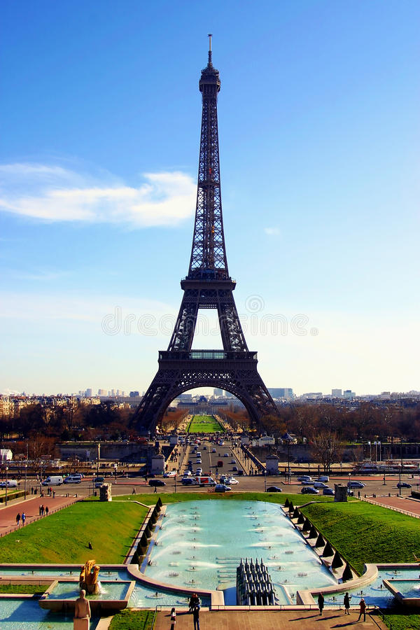 De Toren van Eiffel in de Stad van Parijs, Frankrijk stock afbeelding