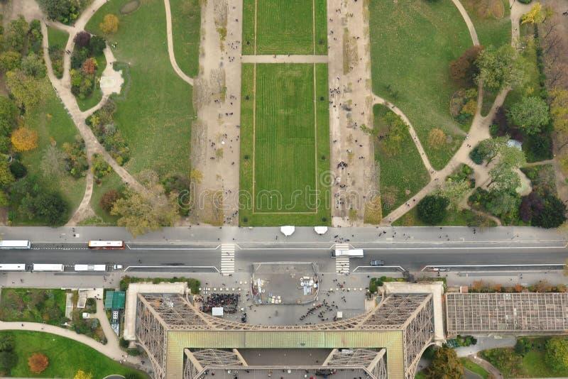 De Toren van Eiffel en gebied van het vogelperspectief van Mars royalty-vrije stock foto's
