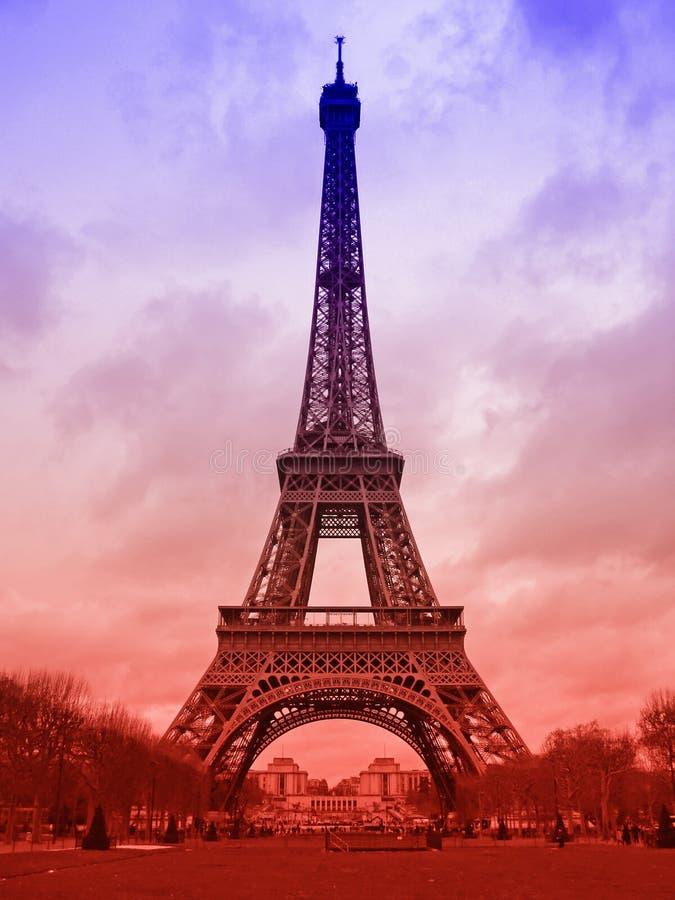 De toren van Eiffel in Parijs royalty-vrije stock afbeelding