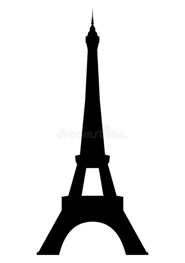 De Toren van Eiffel in Parijs stock illustratie