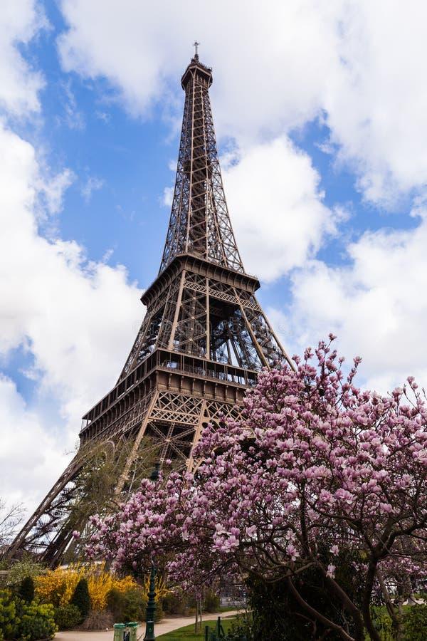 De Toren van Eiffel in Parijs Frankrijk, Beroemd Toerismeoriëntatiepunt royalty-vrije stock foto