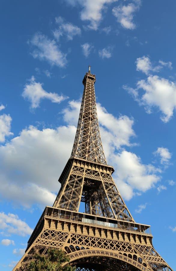 De Toren van Eiffel in Parijs Frankrijk stock afbeelding
