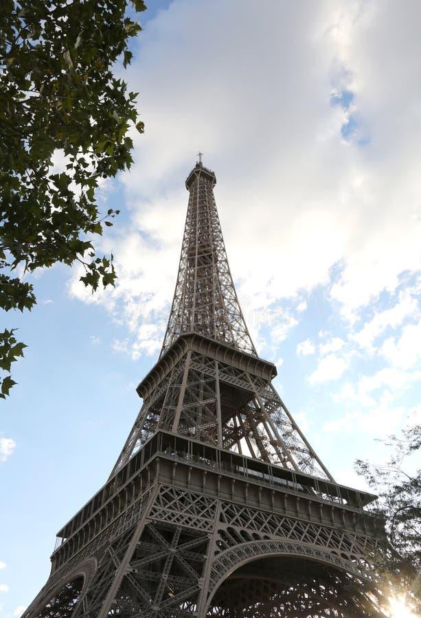 De Toren van Eiffel in Parijs Frankrijk stock afbeeldingen