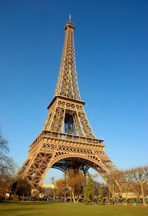 De toren van Eiffel, zijaanzicht stock foto
