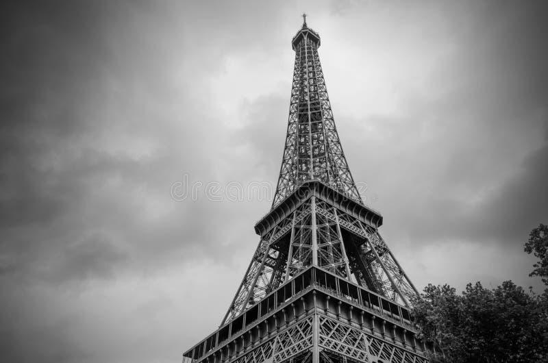 De Toren van Eiffel in zwart-wit royalty-vrije stock afbeelding