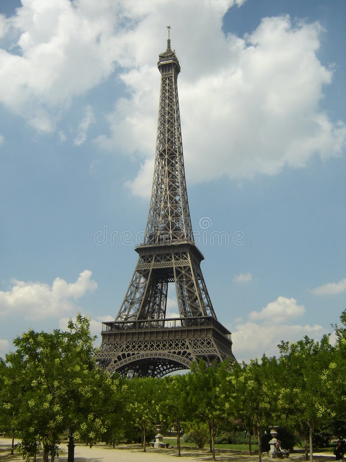 De Toren van Eifffel, Parijs stock afbeelding