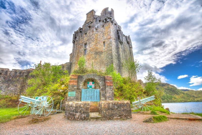 De toren van Eileandonan royalty-vrije stock foto