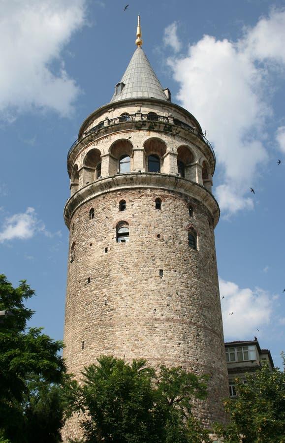 De Toren van Galata in Istanboel stock afbeelding