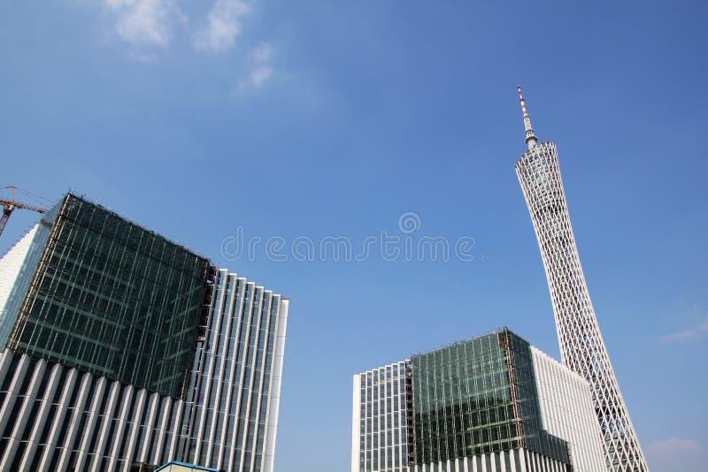 De toren van Guangzhou stock afbeeldingen