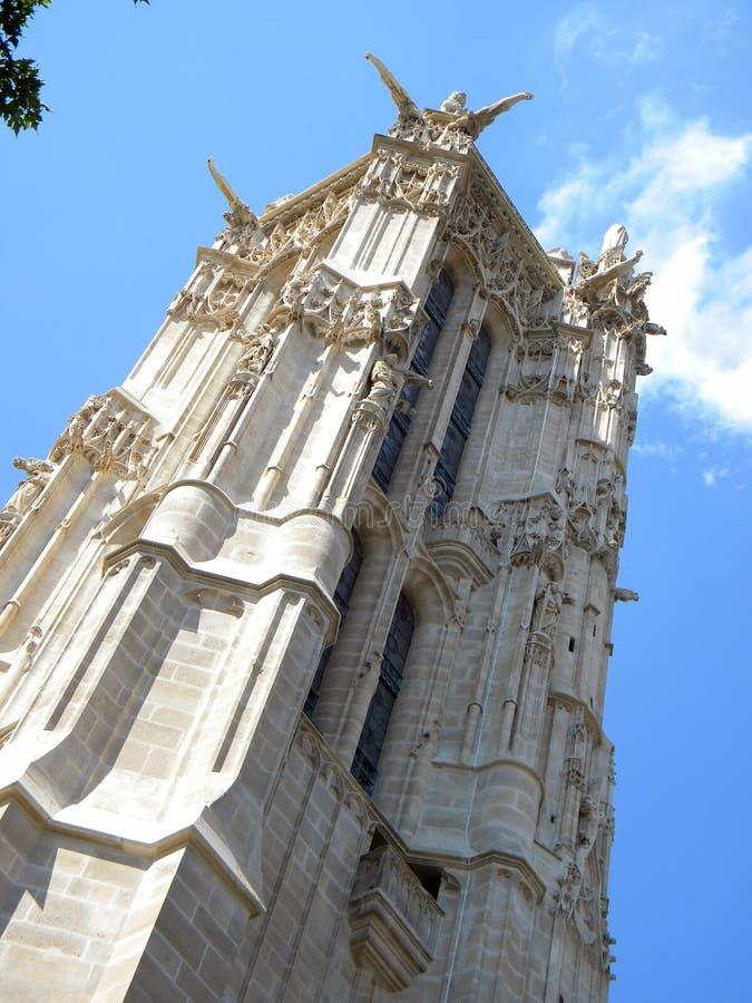 De toren van Heilige Jacques, Parijs stock afbeeldingen