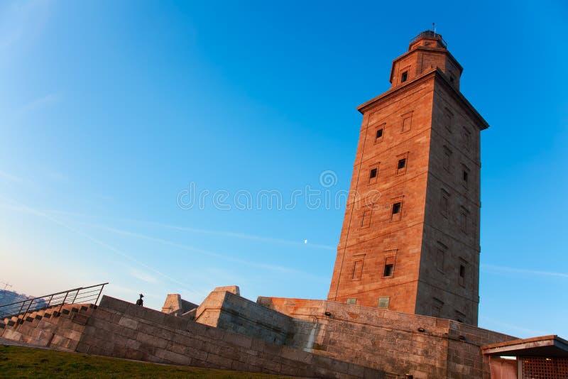 De toren van hercules stock foto's