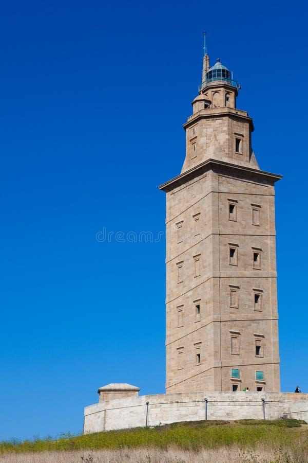 De toren van hercules stock foto