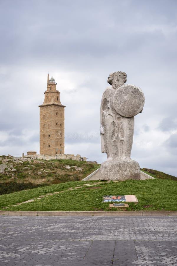 De Toren van Hercules stock fotografie