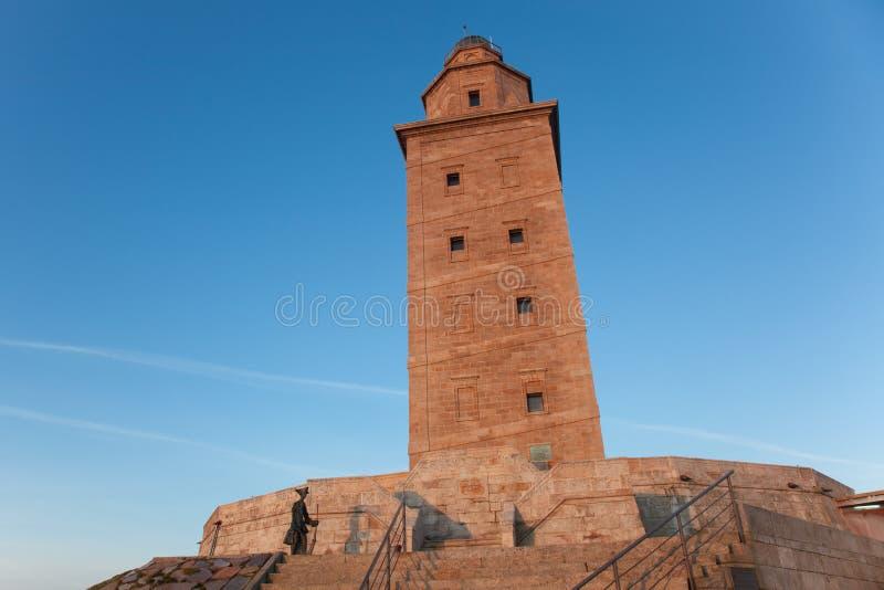 De toren van hercules, La Coruna stock afbeelding