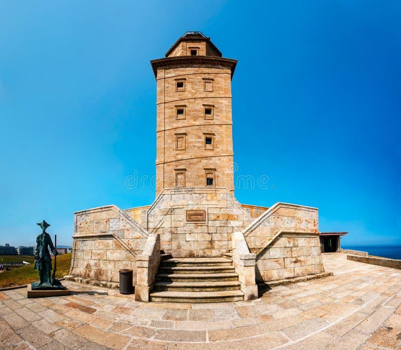 De toren van hercules in La Coruna royalty-vrije stock afbeelding