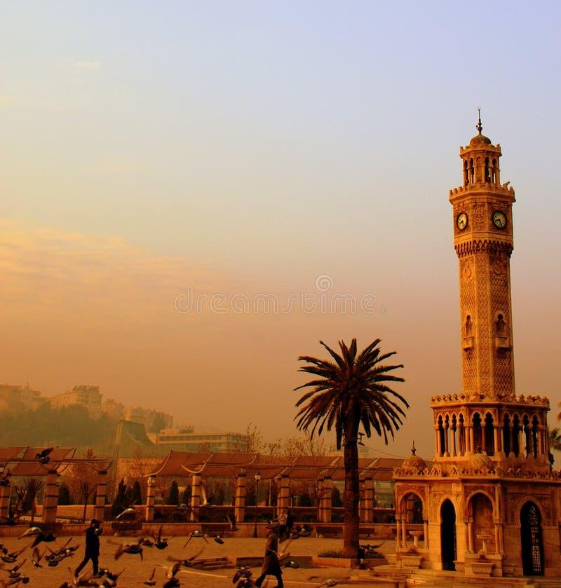 De toren van het horloge stock afbeeldingen