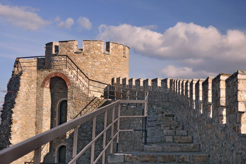 De toren van het horloge bij Middeleeuwse Citadel stock afbeelding