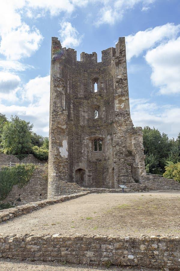 De Toren van het het Kasteelzuidwesten van Farleighhungerford stock foto