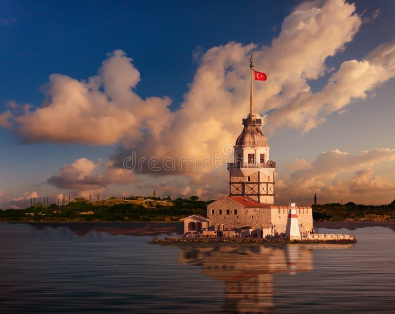 De Toren van het meisje royalty-vrije stock foto's