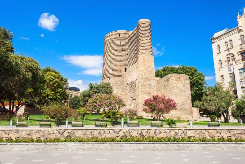 De Toren van het meisje in Baku royalty-vrije stock afbeeldingen