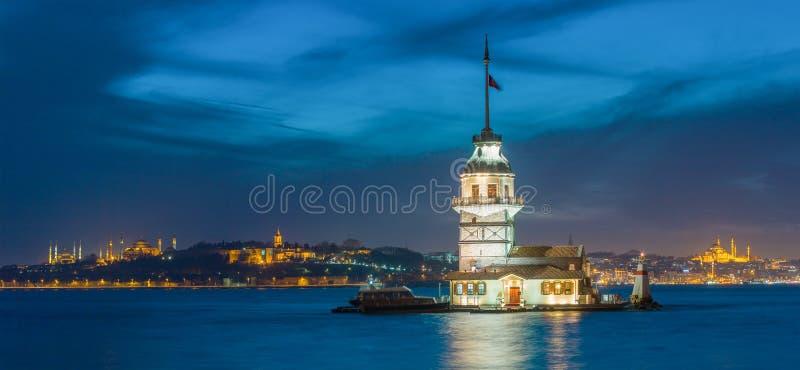 De Toren van het meisje in Istanboel royalty-vrije stock afbeelding