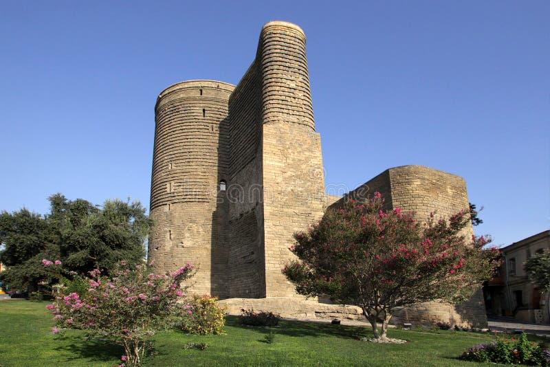 De Toren van het meisje in de oude stad van Icheri Sheher royalty-vrije stock foto
