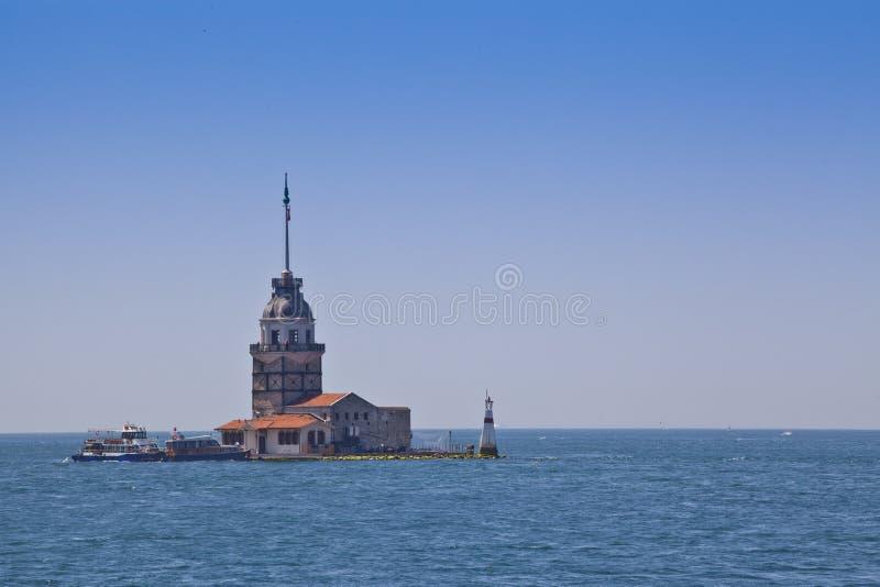 De toren van het meisje, Turkije royalty-vrije stock foto's