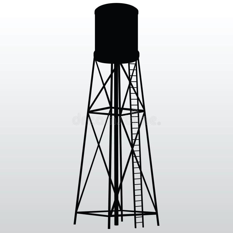 Download De Toren van het water vector illustratie. Illustratie bestaande uit domein - 29500838