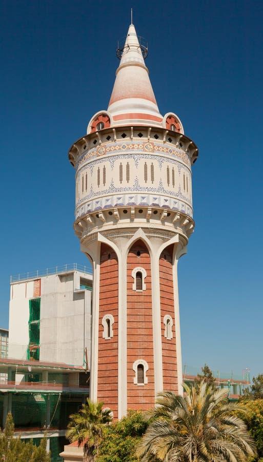 De Toren van het water in Barcelona Spanje stock foto's