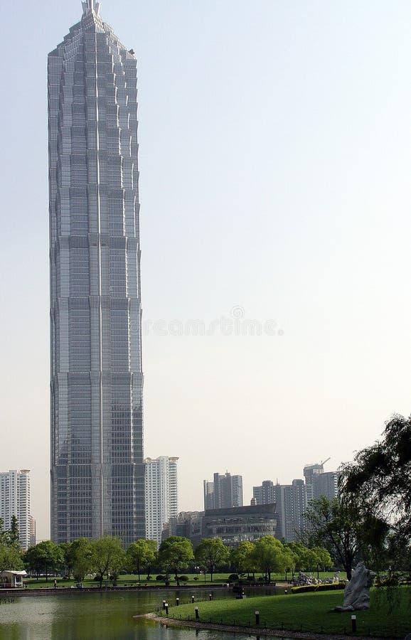 De toren van Jinmao royalty-vrije stock afbeeldingen