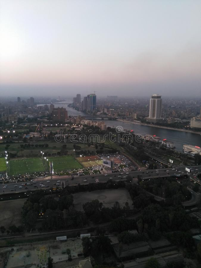 De Toren van Kaïro stock afbeeldingen