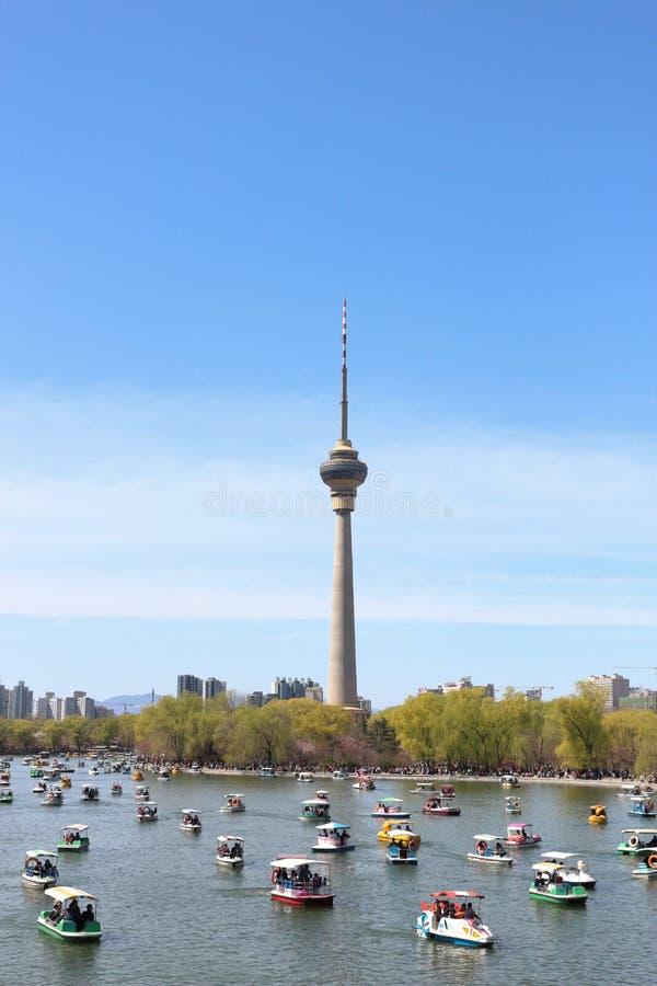 De Toren van kabeltelevisie van Peking royalty-vrije stock fotografie