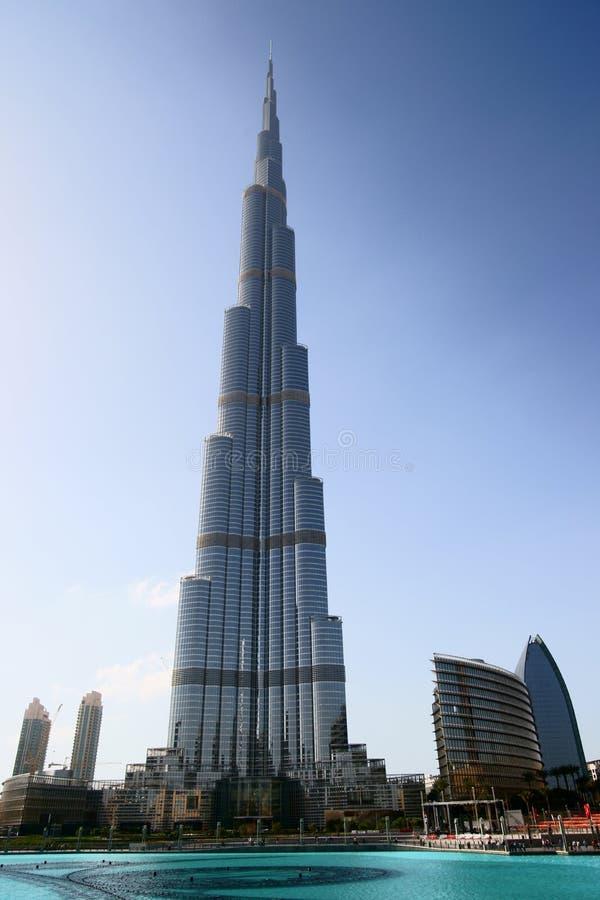 De Toren van Khalifa van Burj stock afbeeldingen