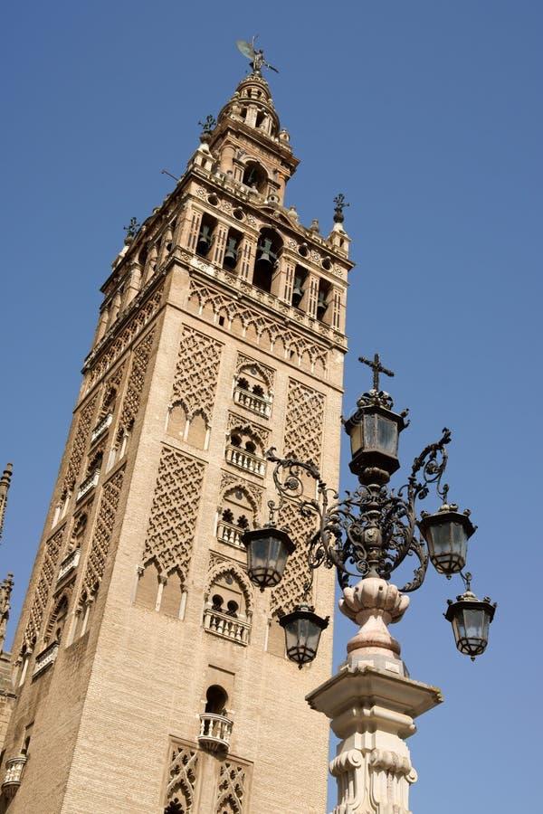 De Toren van La Giralda in Sevilla, Spanje royalty-vrije stock foto's