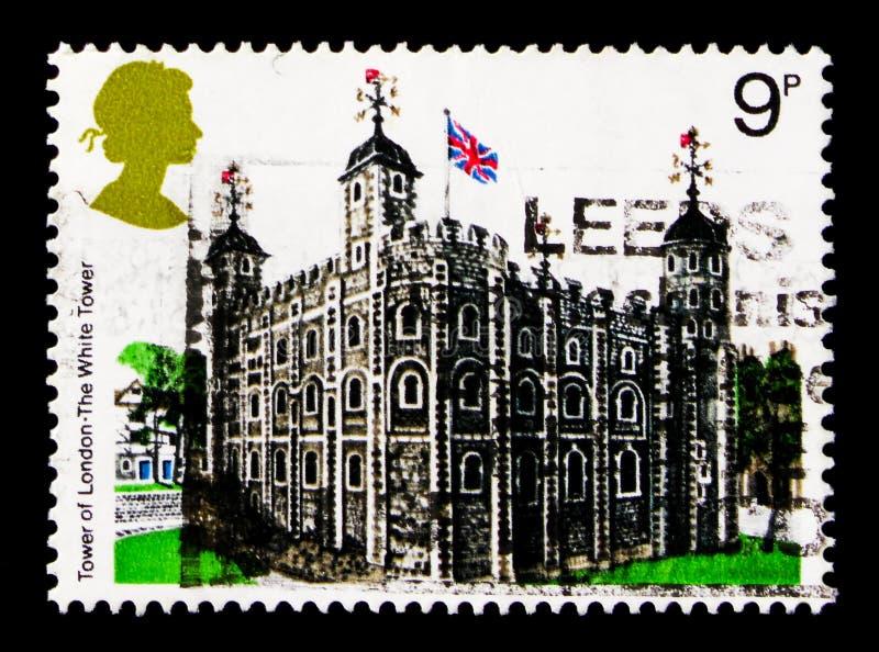 De Toren van Londen, Britse Architectuur, Historische Gebouwen serie, circa 1978 royalty-vrije stock fotografie