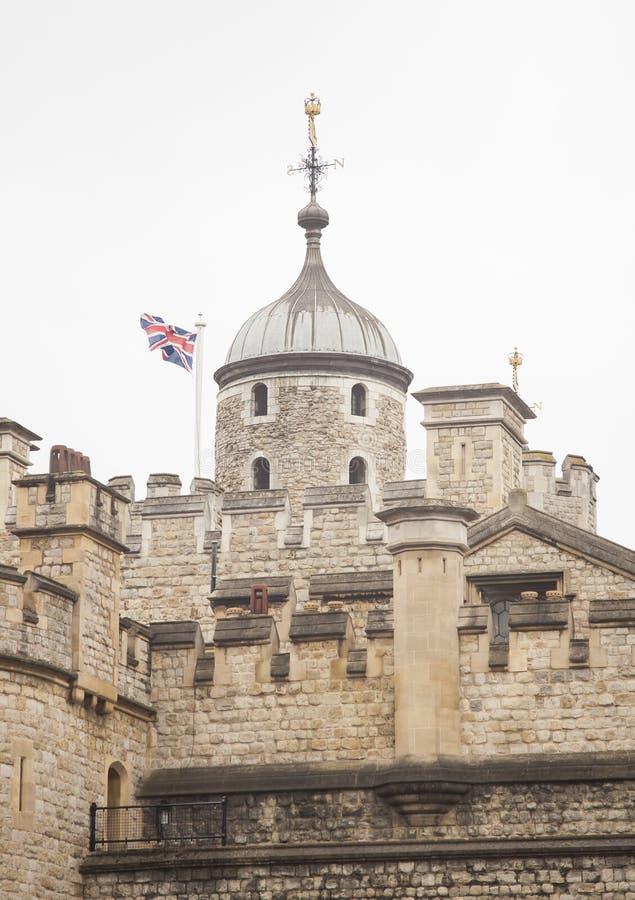 DE TOREN VAN LONDEN oude kasteeldetails royalty-vrije stock afbeeldingen