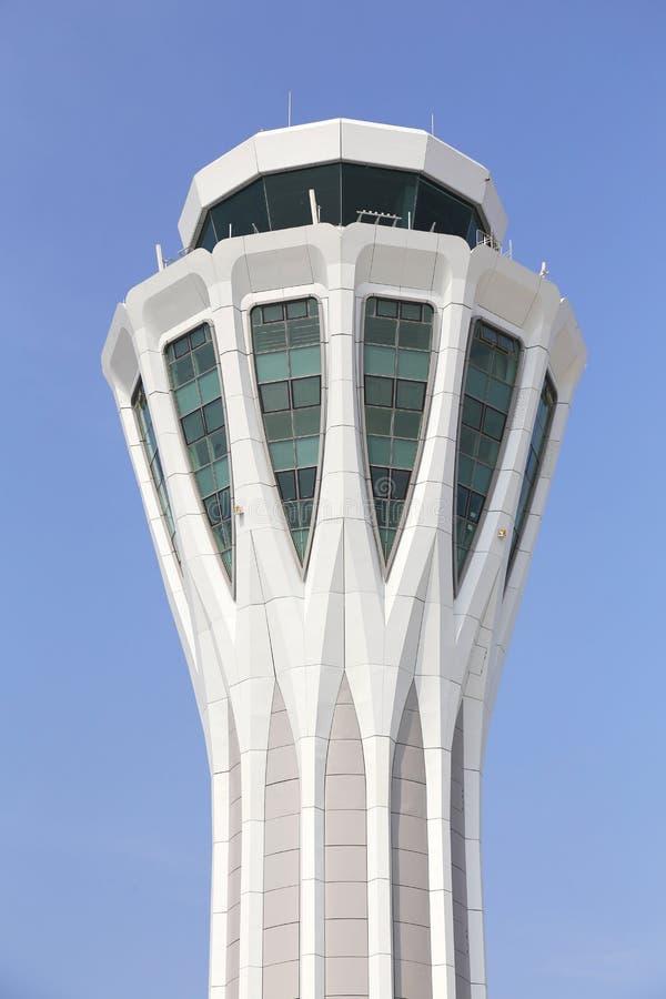 De toren van de luchthavencontrole royalty-vrije stock foto's
