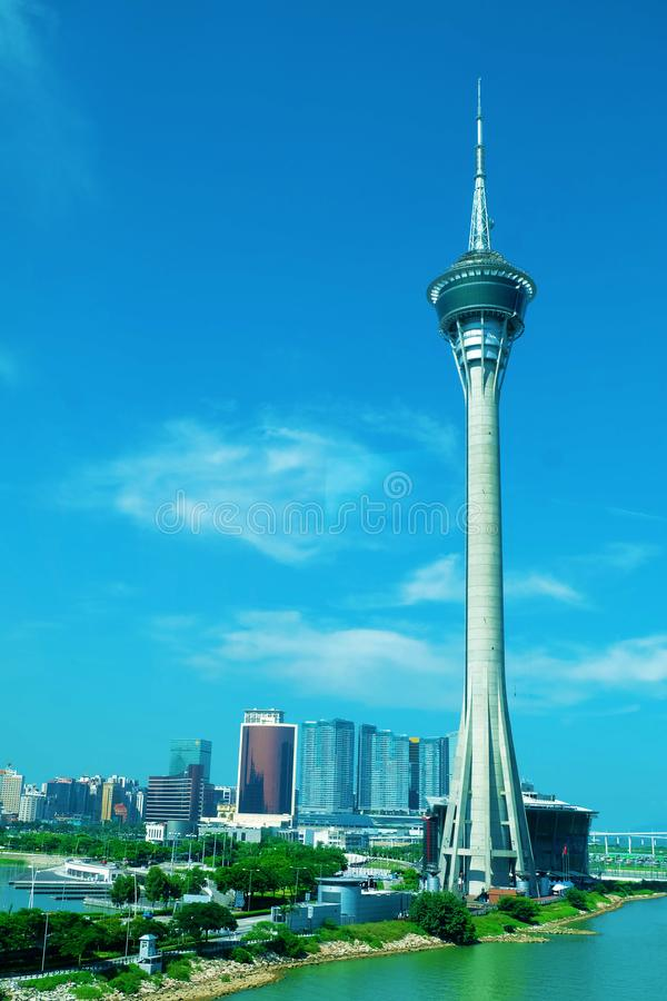 De toren van Macao skywalk stock fotografie